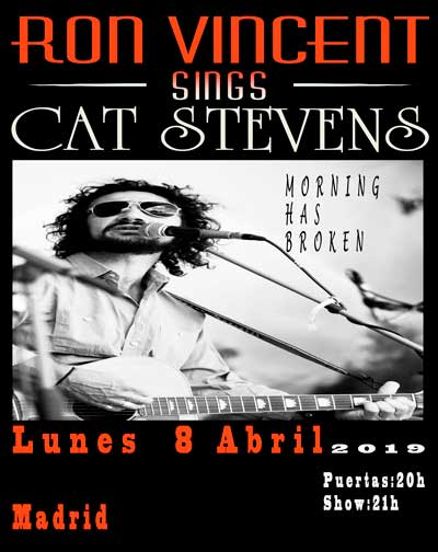 Concierto Ron Vincent Sings Cat Stevens en Madrid