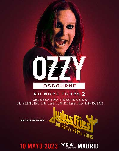 "Concierto Ozzy Osbourne ""No More Tours 2"" en Madrid"